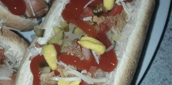 Hot dog de tocineta sin pan