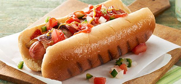 Hot dog de chili picante